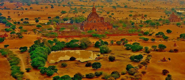 MYANMAR, Burma - Ballonfahrt  früh morgens über das historische Bagan,78347/13722