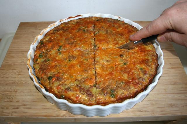 44 - Quarter frittata / Frittata vierteln