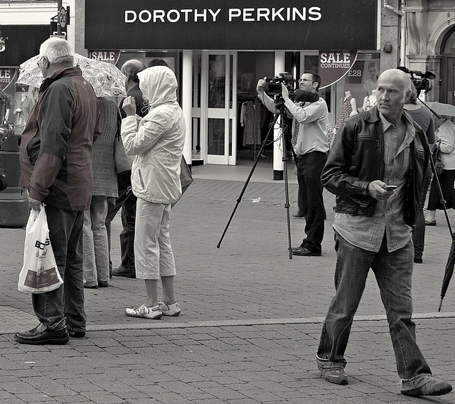 Activity in the streets of Kendal in Cumbria
