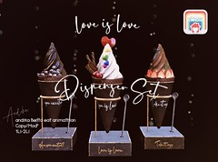 Pride at Home2021//andika [love is love]PRIDE-Dispenser Set