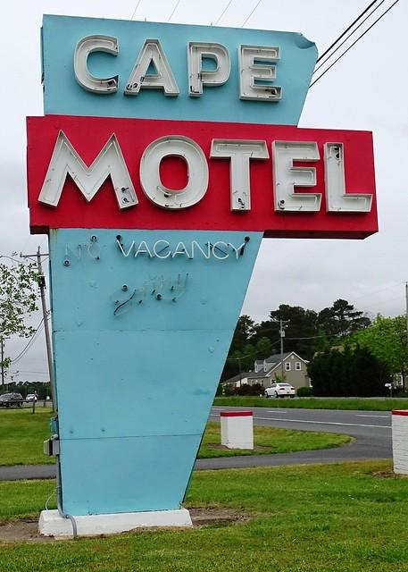 VA, Cape Charles-U.S. 13 Cape Motel Neon Sign