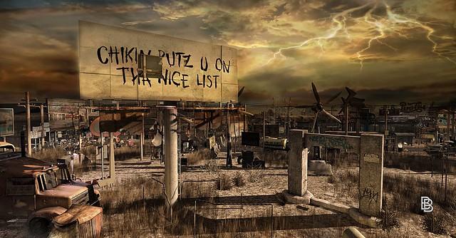 Apocalypse Broken Signboard