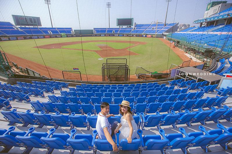 桃園棒球場拍婚紗
