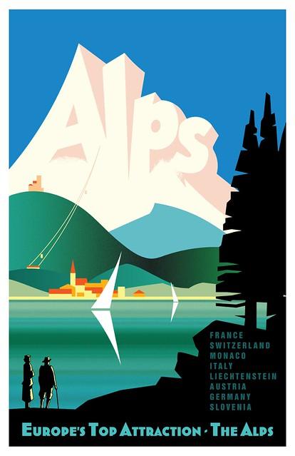 Adobe-Illustrator-Alps-Travel-Poster-Reproduction