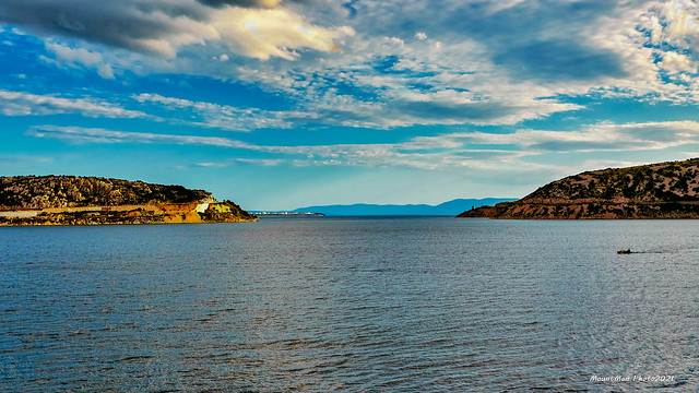 Pogled iz Bakarskog Zaljeva prema otvorenome moru