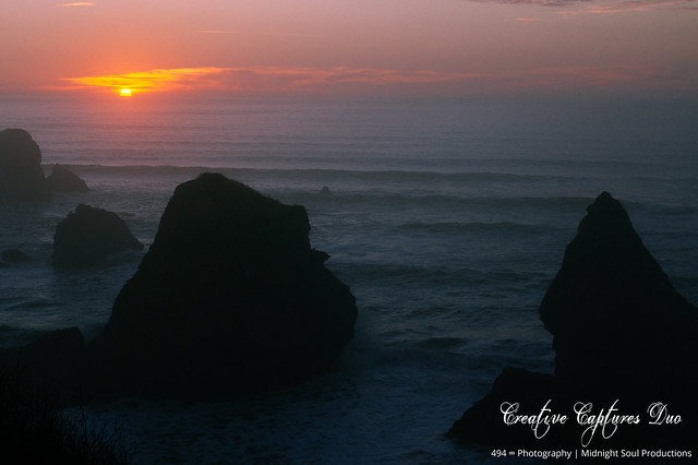 North Coast Crush: A Dramatic Sunset (Part 243): Fading Into Forgotten Memories (In Technicolor)