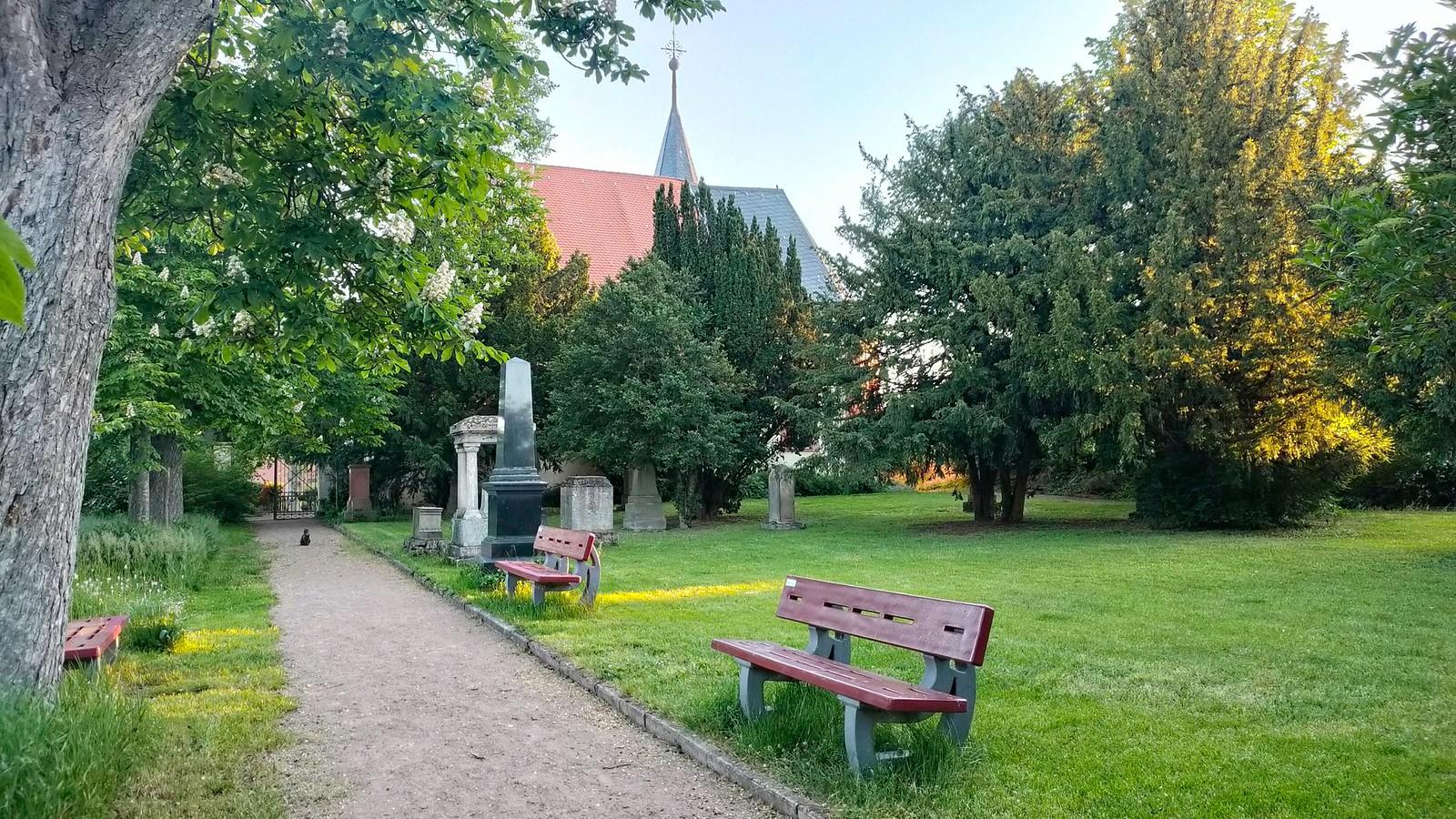 Alter denkmalgeschützter Friedhof und evangelische Kirche Selzen