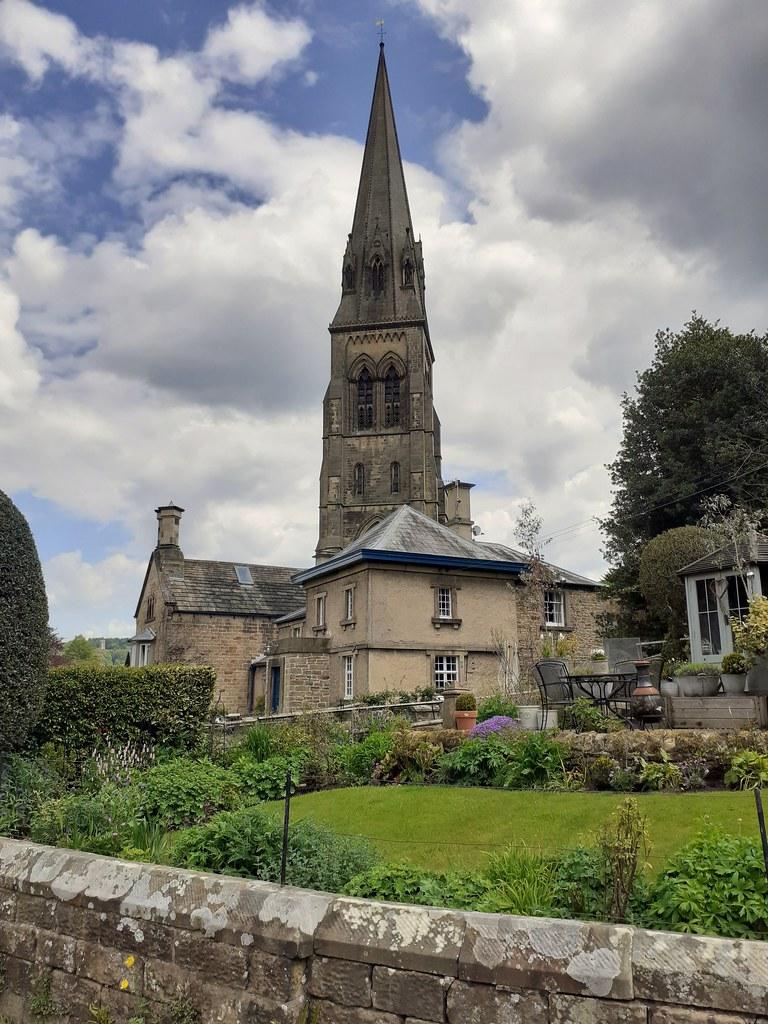 St Peter's Church and cottages, Edensor Derbyshire