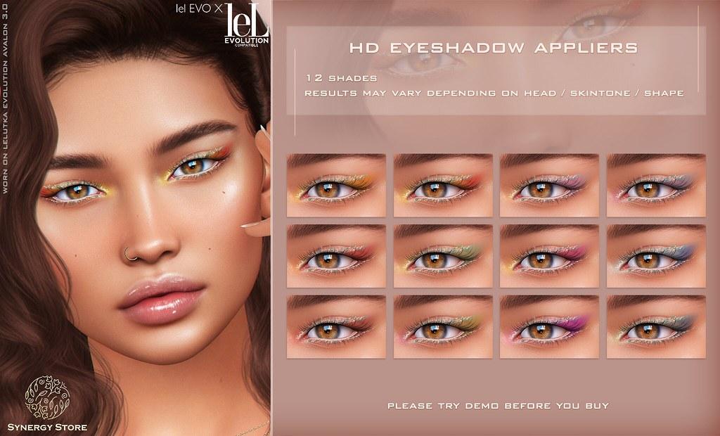 Synergy – Lelutka HD Eyeshadow Applier for EVO/EVO X heads – Roseau♥