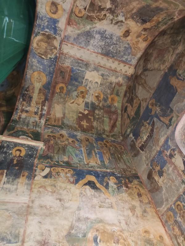 Псков -  Спасо-Преображенский Мирожский монастырь - Фрески