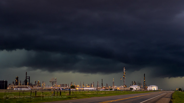 30 May 2021 — Dumas, Texas — Refinery and storm