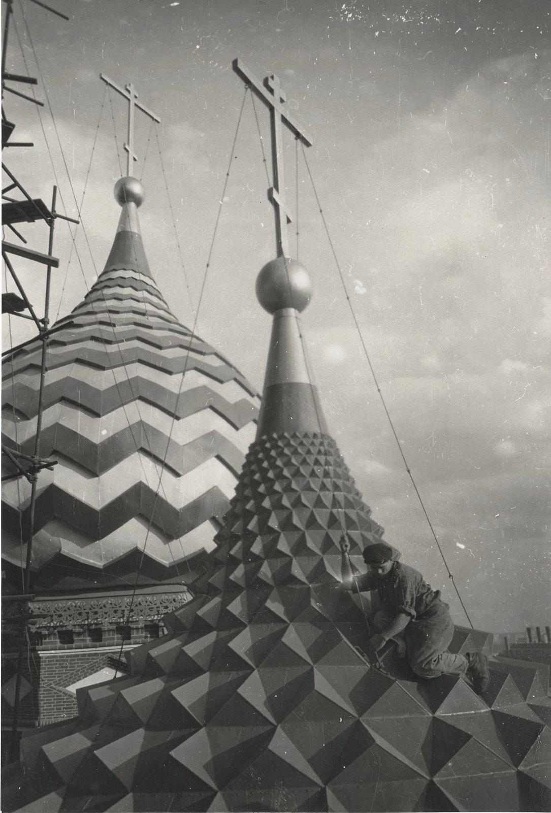 1954-1955. Реставрация Храма Василия Блаженного