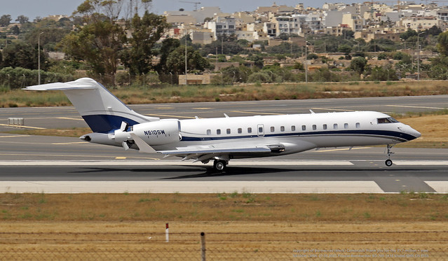 N610SW LMML 27-05-2021 Private Bombardier BD-700-1A10 Global 6000 CN 9733