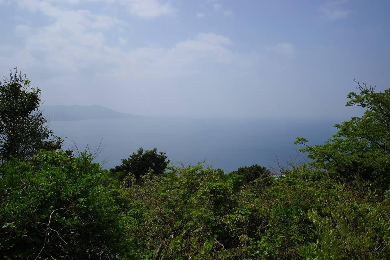 沼津アルプス縦走登山 さざなみ展望台からの海の展望