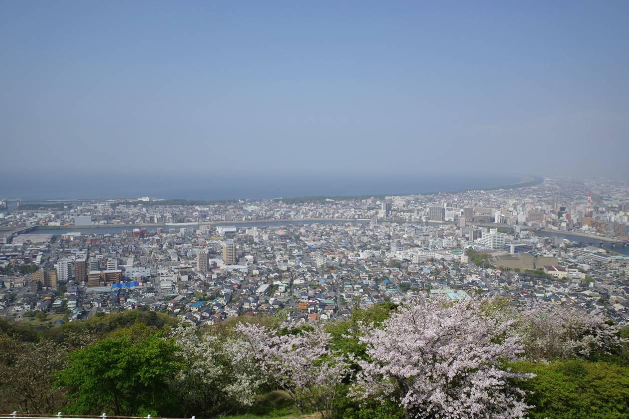 香貫山展望台からの海の眺め