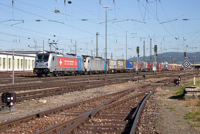 Railpool 187 002 + 186 104 Basel Badischer Bahnhof
