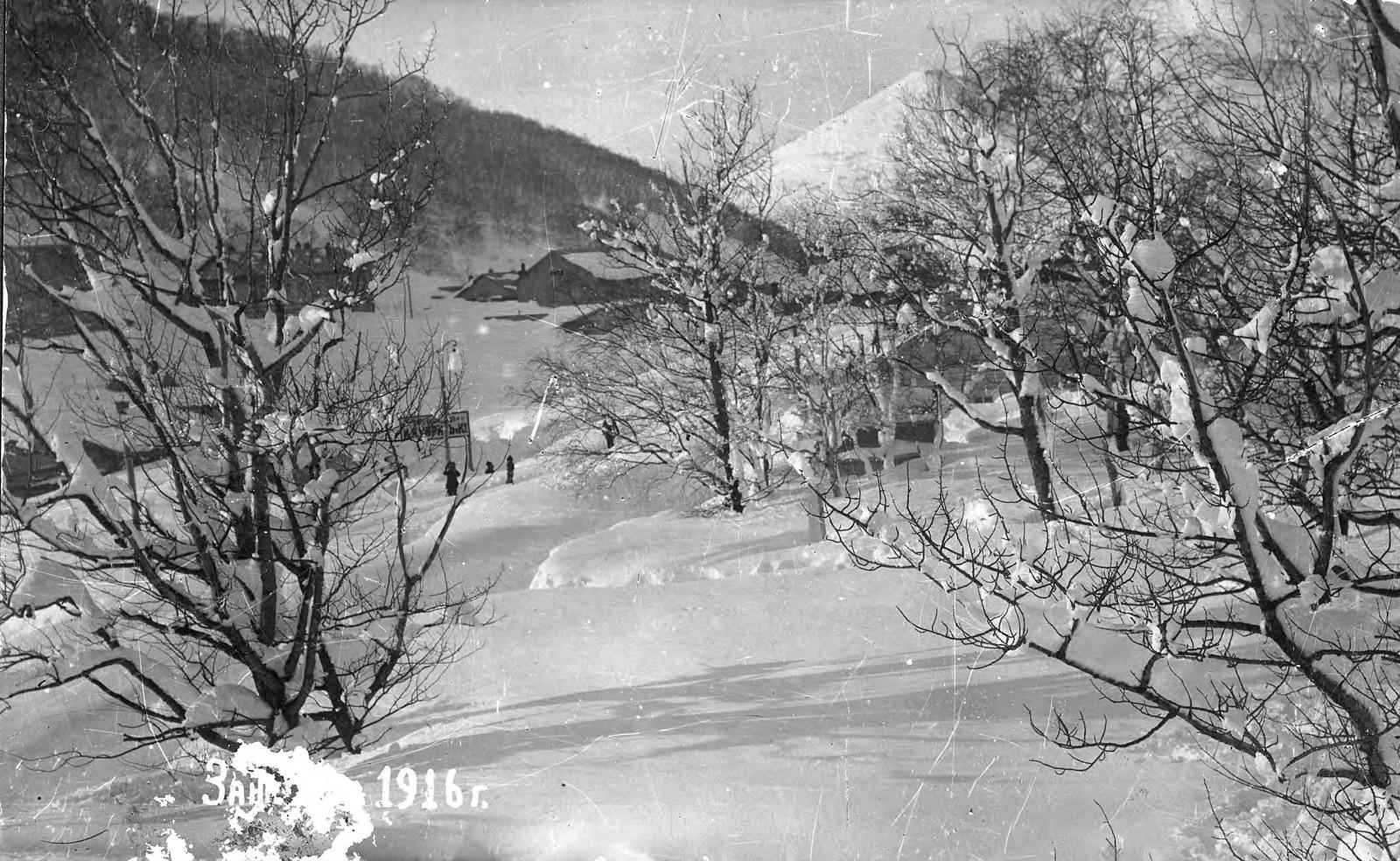 1916. Вид на центр города зимой