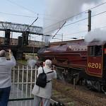 6201 Princess Elizabeth departs Preston to head back home to Carnforth