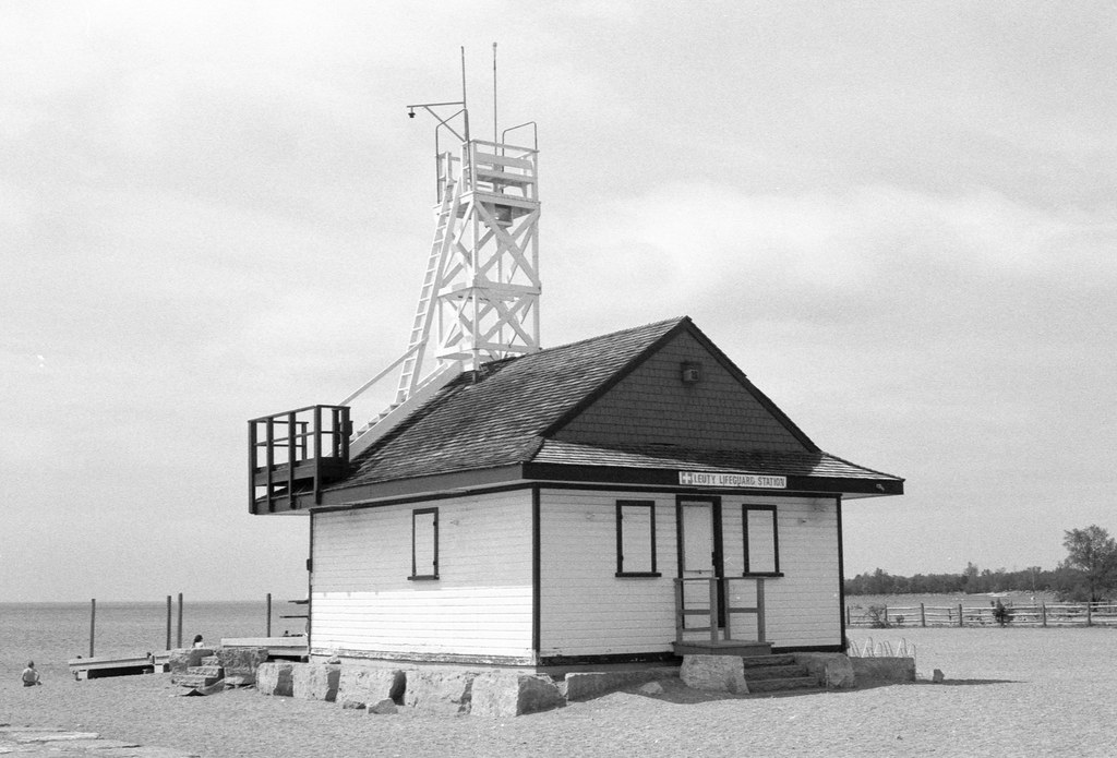 Closed Up Lifeguard Station on the Beach