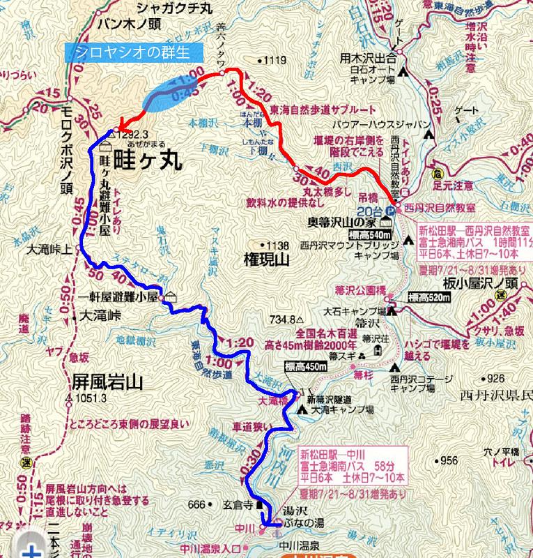 畦ヶ丸の地図