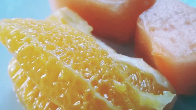 Orange and melon.....