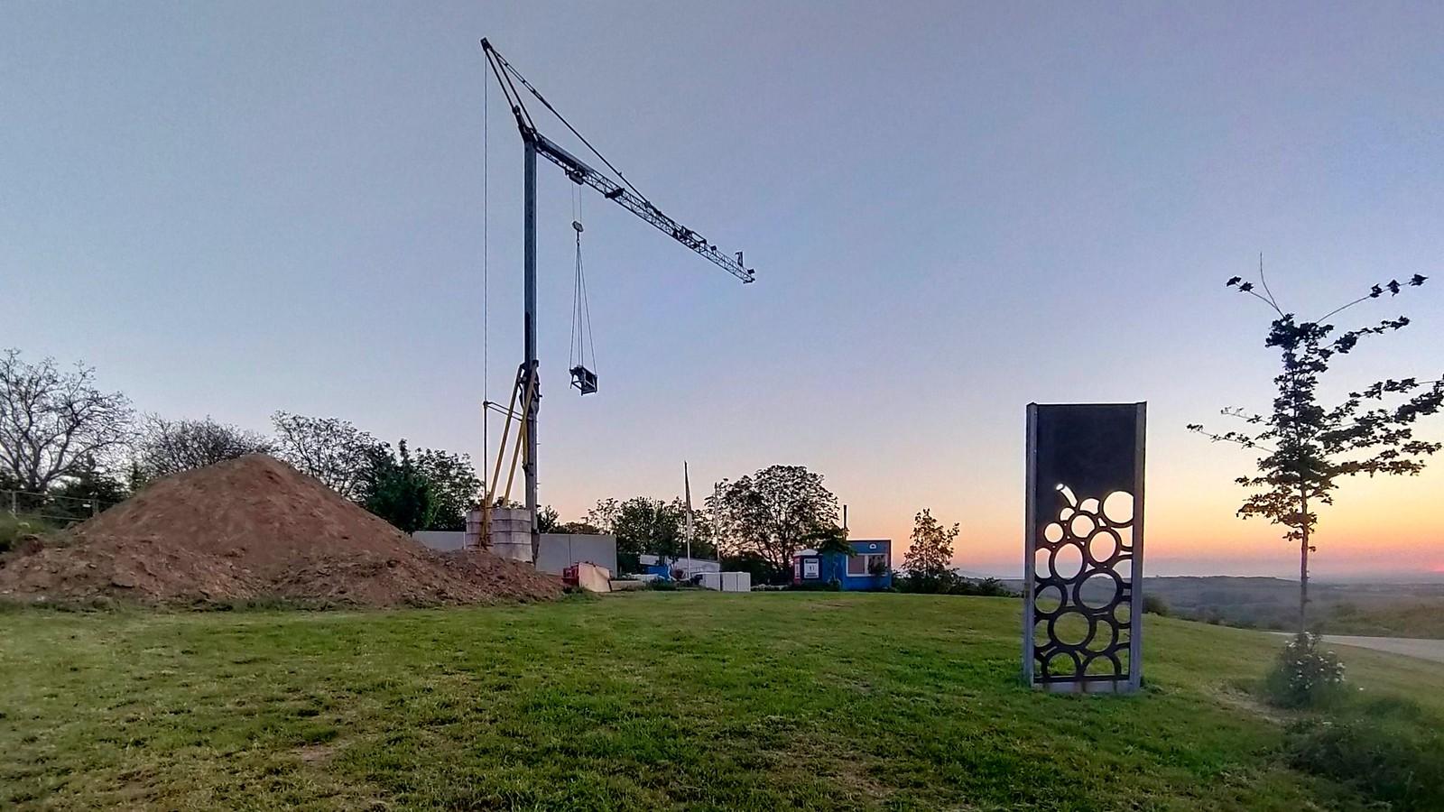 Bau der Einkehrhütte an der Schönsten Weinsicht 2020 Rheinhessen