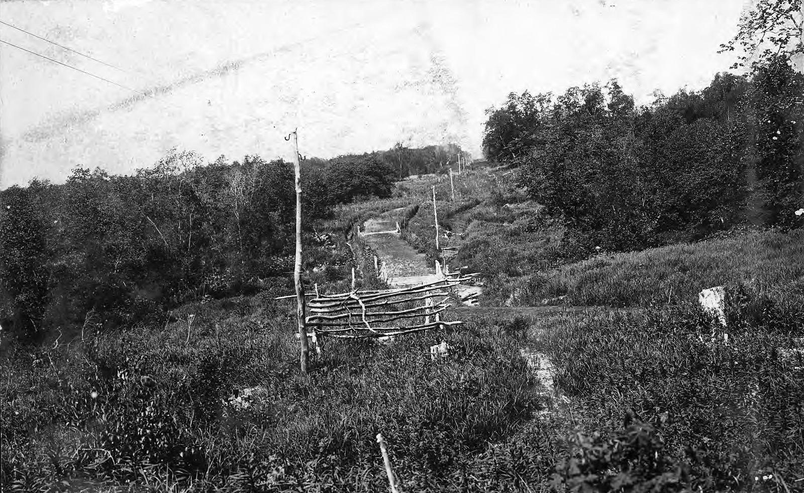 1910. Тропа на Петровской сопке