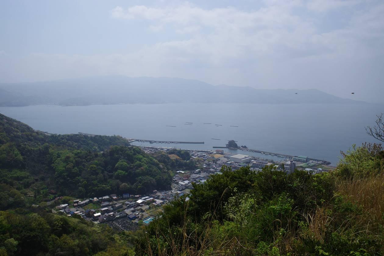 沼津アルプス縦走 登山道から眺める海