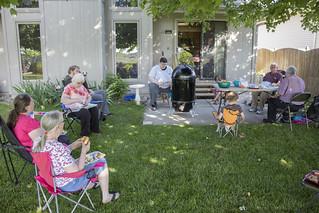 Brisket in the backyard.