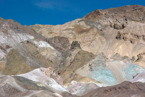 Artist's Palette, a multi-coloured eroded landform, accessed off of Badwater Road, in the Death ValleyDesert_2705w