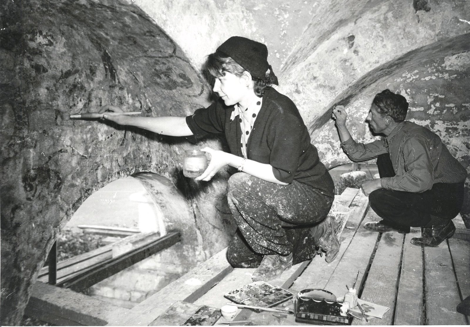 1954-1955. Реставрация Храма Василия Блаженного1