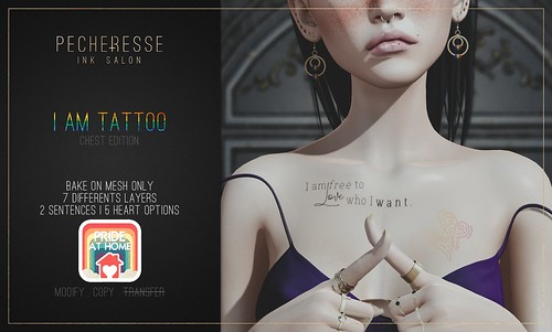 pecheresse. i am tattoo (chest edition) free gift @Pride At Home