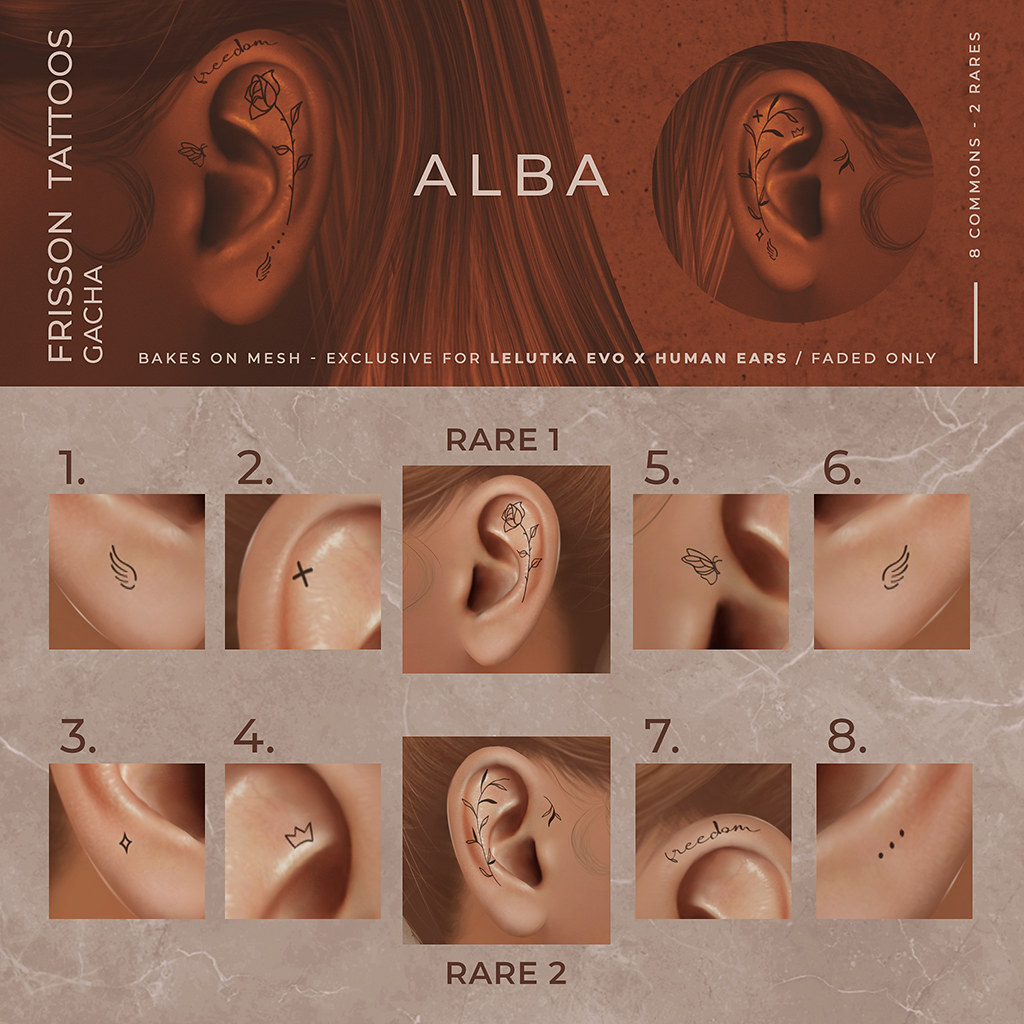 ALBA – Frisson Tattoos Gacha @ The Arcade