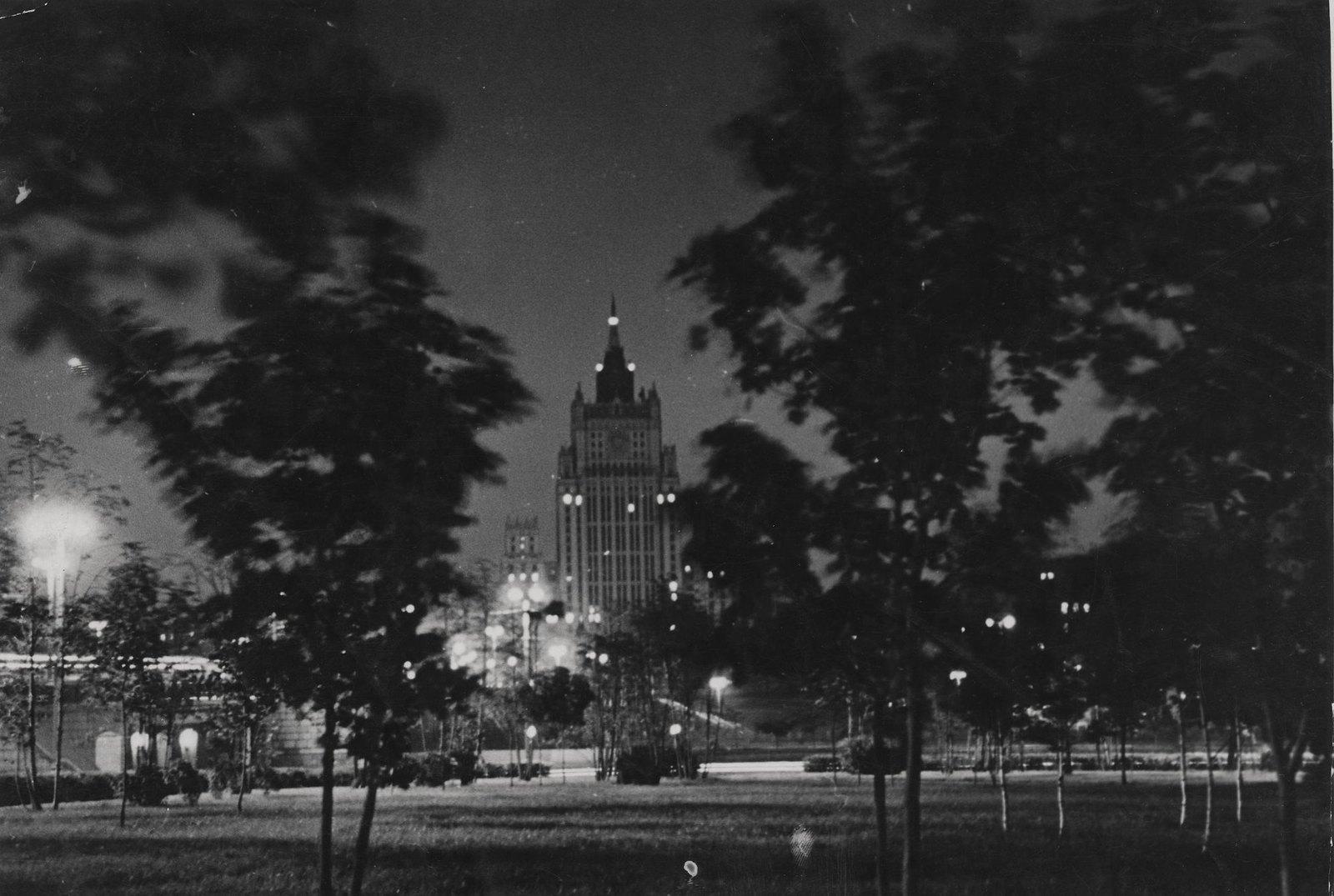 1953. Москва вечером