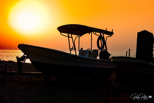 Sunset at Galatic Bay, Qatar