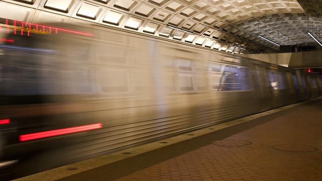 Metro Train Leaving Dupont Circle