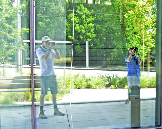 Two Photographers, Reflected