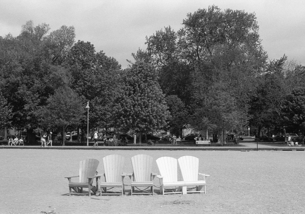 Five Chairs on the Beach