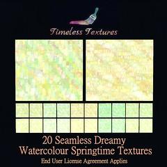 TT 20 Seamless Dreamy Watercolour Springtime Timeless Textures