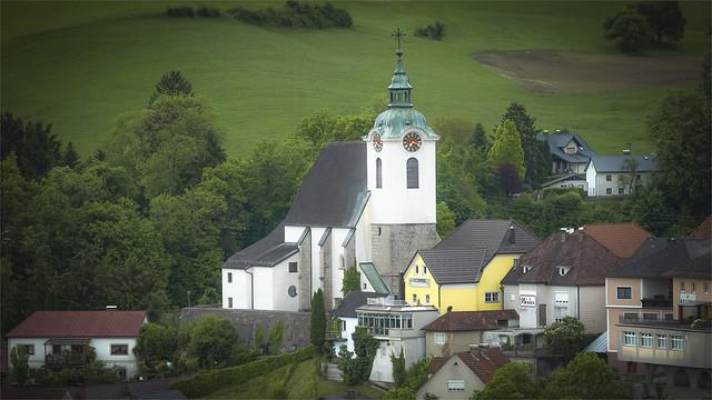 _DSC32884 Parish church of Steinbach Village at the Steyr River / Upper-Austria