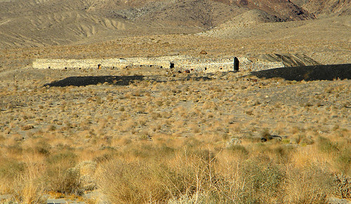 Abandoned building in Death Valley desert