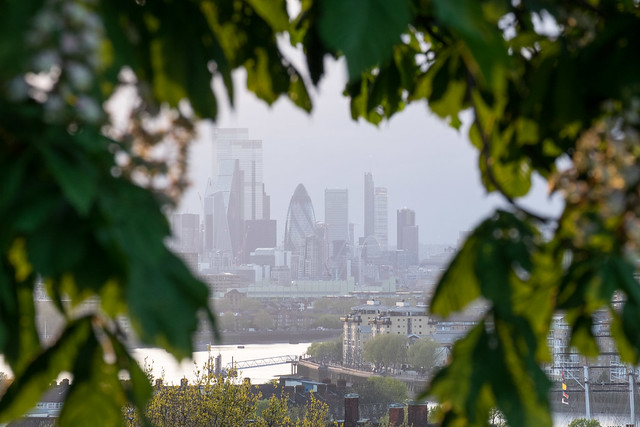 Evening view from Greenwich Park