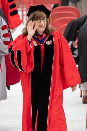 Cornell University president Martha Pollack at 2021 Commencement