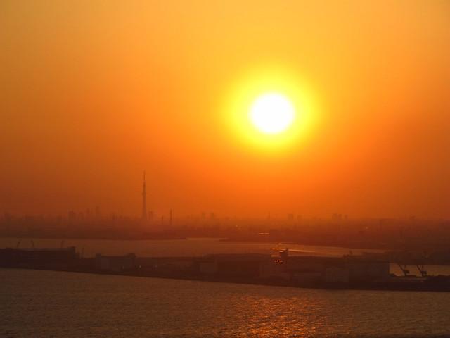 Sunset over Tokyo Bay