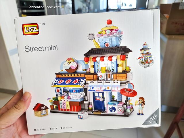LOZ mini 1219 Dessert Ice Cream Blending Shop Food Stall