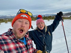 Then, we went cross-country skiing!