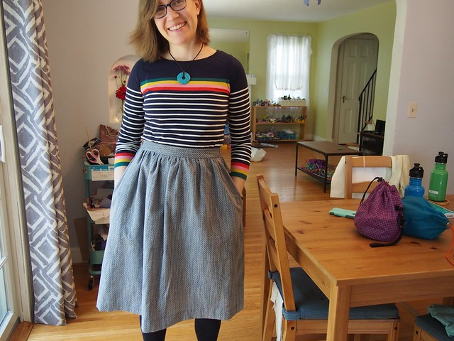 Finished Cleo Skirt, the fourth!