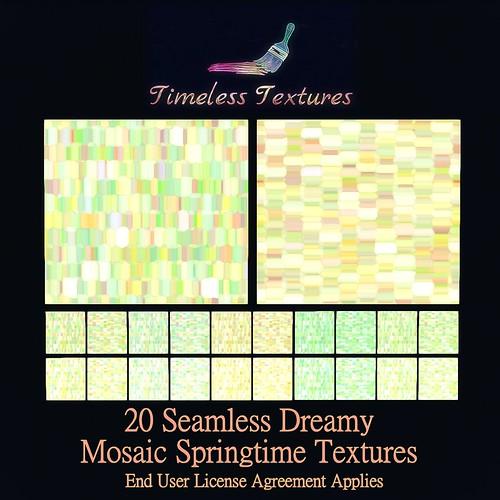 TT 20 Seamless Dreamy Mosaic Springtime Timeless Textures