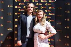 Filmmakers Chris Homstad & Kelsey Landon of 'Dying Breed' at the Focus On New Mexico Filmmaker Spotlight 2021 - IMG_0485