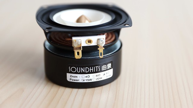 Full Range frequency Speaker 3inch unit with aluminum bullet head kapton Cone.
